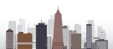 Ciudad 2 del vector Imagen de archivo libre de regalías
