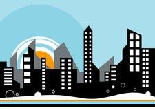 ciudad del vector libre illustration