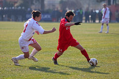 Ciudad derby del fútbol Foto de archivo