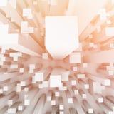 Ciudad desde arriba del ejemplo 3D fotos de archivo libres de regalías