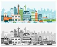 Ciudad elegante stock de ilustración