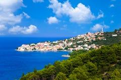 Ciudad en Croatia imagen de archivo