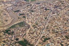 Ciudad en el área residencial, Afganistán de Kabul foto de archivo libre de regalías