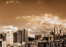 Ciudad en el día foto de archivo libre de regalías