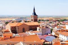 Ciudad en el La Mancha Campo de Criptana Fotos de archivo