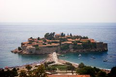 Ciudad en el mar Imagen de archivo libre de regalías