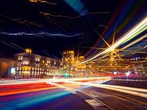 Ciudad en el movimiento Fotografía de archivo
