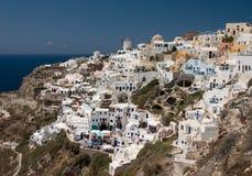 Ciudad en el Santorini Imagen de archivo libre de regalías