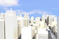 Ciudad en el Sun ilustración del vector