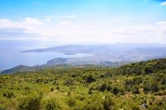 Ciudad en Grecia Imágenes de archivo libres de regalías