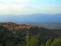 Ciudad en la montaña Fotos de archivo
