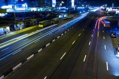 Ciudad en la noche imagen de archivo libre de regalías