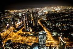 Ciudad en la noche Fotos de archivo libres de regalías