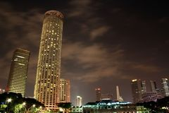 Ciudad en la noche Fotos de archivo
