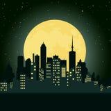 Ciudad en la noche Imagen de archivo