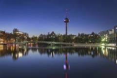 Ciudad en la noche, Colonia (koln) Fotos de archivo libres de regalías