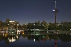 Ciudad en la noche, Colonia (koln) Fotografía de archivo libre de regalías