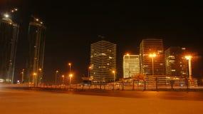 Ciudad en la noche en Estambul Foto de archivo libre de regalías