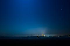 Ciudad en la noche hermosa Imagen de archivo