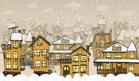 Ciudad en los días de invierno