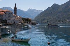 Ciudad en Montenegro Fotos de archivo libres de regalías