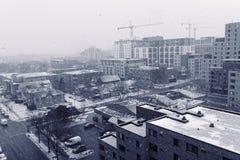 Ciudad en nieve Imagenes de archivo
