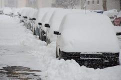 Ciudad en nieve Fotografía de archivo libre de regalías