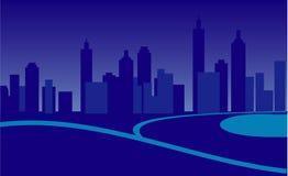 Ciudad en noche Ilustración del Vector