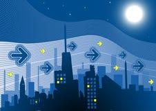 Ciudad en noche Fotografía de archivo libre de regalías