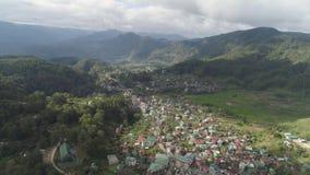 Ciudad en provincia de la montaña Sagada, Filipinas almacen de metraje de vídeo