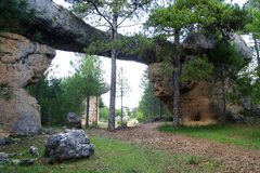 Ciudad Encantada,昆卡省,西班牙 库存图片