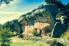 The Ciudad Encantada (Enchanted City), Cuenca (Spain) Stock Photo