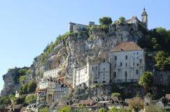 Ciudad episcopal en Rocamadour, Francia Fotografía de archivo libre de regalías