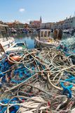 Ciudad eslovena hermosa Izola de la costa imagen de archivo libre de regalías