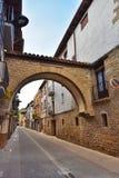 Ciudad española antigua Zangoza en Navarra Foto de archivo