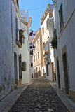 Ciudad española de Sitges Imagen de archivo libre de regalías