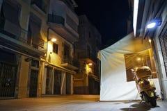Ciudad española el dormir. Fotografía de archivo