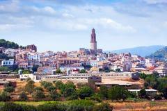 Ciudad española ordinaria en verano. Jerica Fotos de archivo