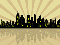 Ciudad estilizada Fotos de archivo