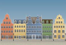 Ciudad europea vieja libre illustration