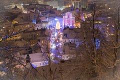 Ciudad festiva Imagenes de archivo