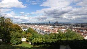 Ciudad Francia de Timelipse Lyon almacen de metraje de vídeo