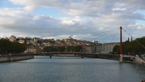 Ciudad Francia de Timelipse Lyon