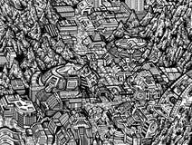 Ciudad futura Imagen de archivo libre de regalías