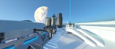 Ciudad futura libre illustration