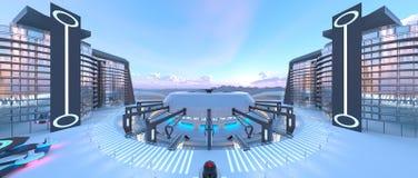 Ciudad futura ilustración del vector