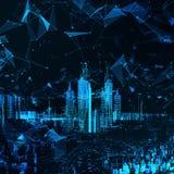 Ciudad futurista abstracta Imagen de archivo libre de regalías
