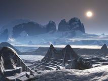 Ciudad gamma de Technovia en nieve libre illustration