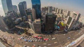 Ciudad Gangnam céntrico de Seul almacen de video