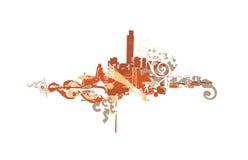 Ciudad grande Foto de archivo libre de regalías
